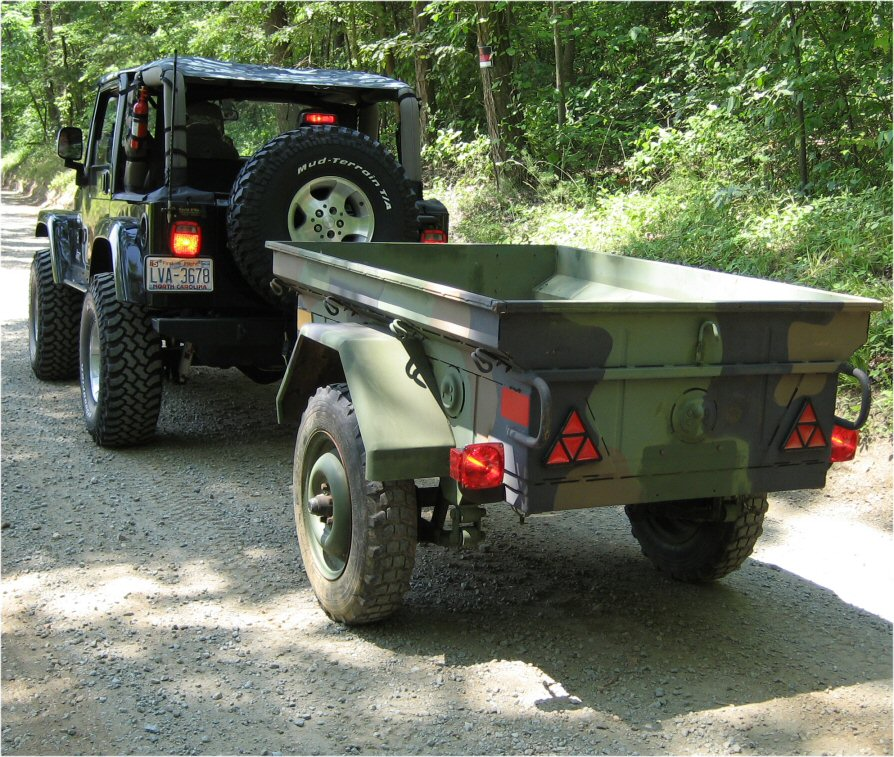 The guy I bought it from has  M101 Trailer Conversion